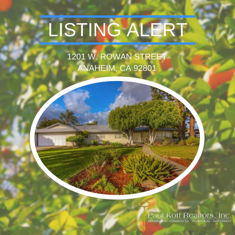 New Listing: Rowan Street, Anaheim